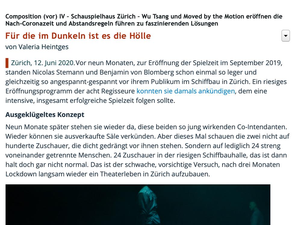 Screenshot Kritik Nachtkritik Wu Tsang und Moved by the Motion